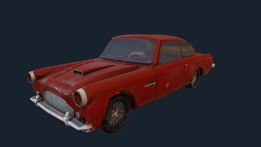 Abandoned Old Luxury Car royalty-free 3d model - Preview no. 7