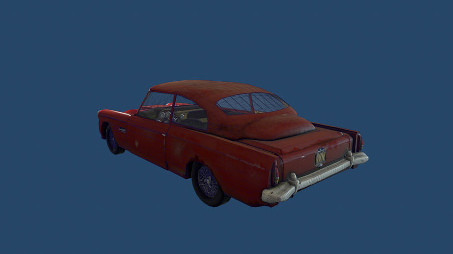 Abandoned Old Luxury Car royalty-free 3d model - Preview no. 11