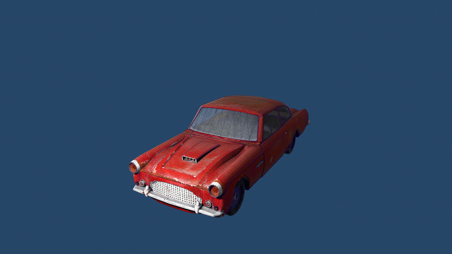 Abandoned Old Luxury Car royalty-free 3d model - Preview no. 14