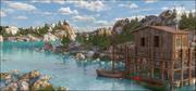 Western Lake Landscape 3d model