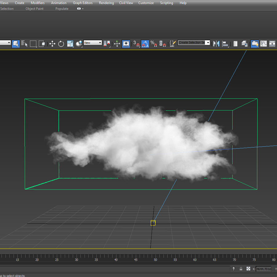 3D Clouds - 10 PACK - VDB royalty-free 3d model - Preview no. 9