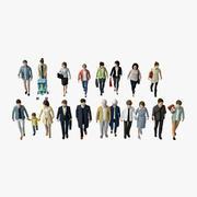 Business People 05 (Walking) 3d model