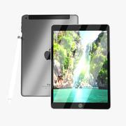 Apple - iPad Pro Wi-Fi + 4G 256GB - Cinza espacial (lápis de maçã grátis) 3d model