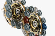 Gear mechanism v 6 3d model