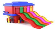 Toy garage with slide 3d model