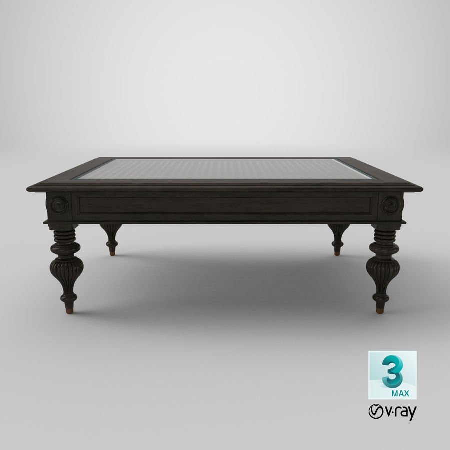 - Traditional Coffee Table 3D Model $39 - .ma .unitypackage .upk