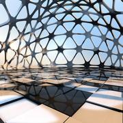Futuristic Interior Space Dome 3d model