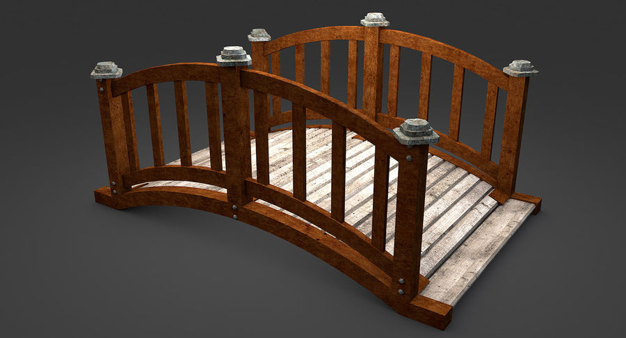 Ponte di legno royalty-free 3d model - Preview no. 3