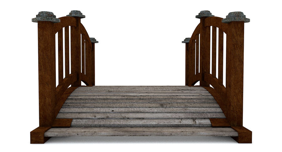 Ponte di legno royalty-free 3d model - Preview no. 8