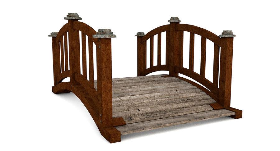 Ponte di legno royalty-free 3d model - Preview no. 5