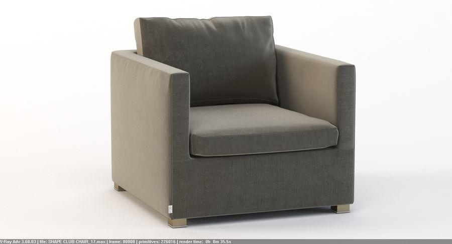Photorealistic Detail Cane Line Shape Sofa Club Chair