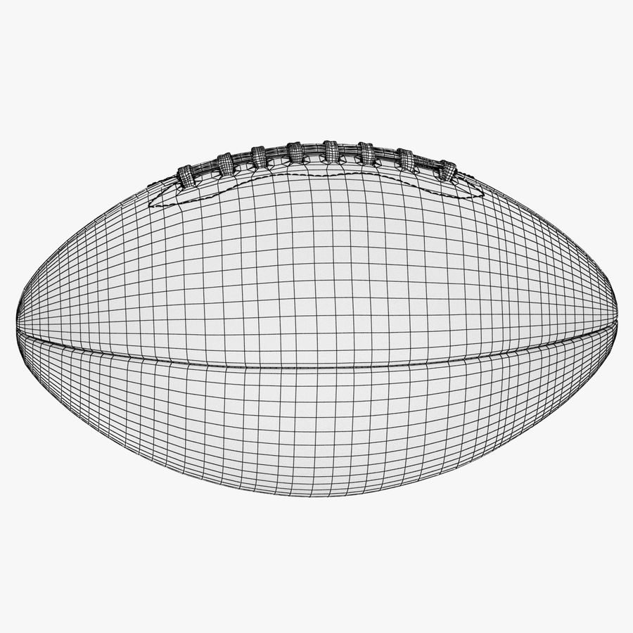 futbol amerykański royalty-free 3d model - Preview no. 16