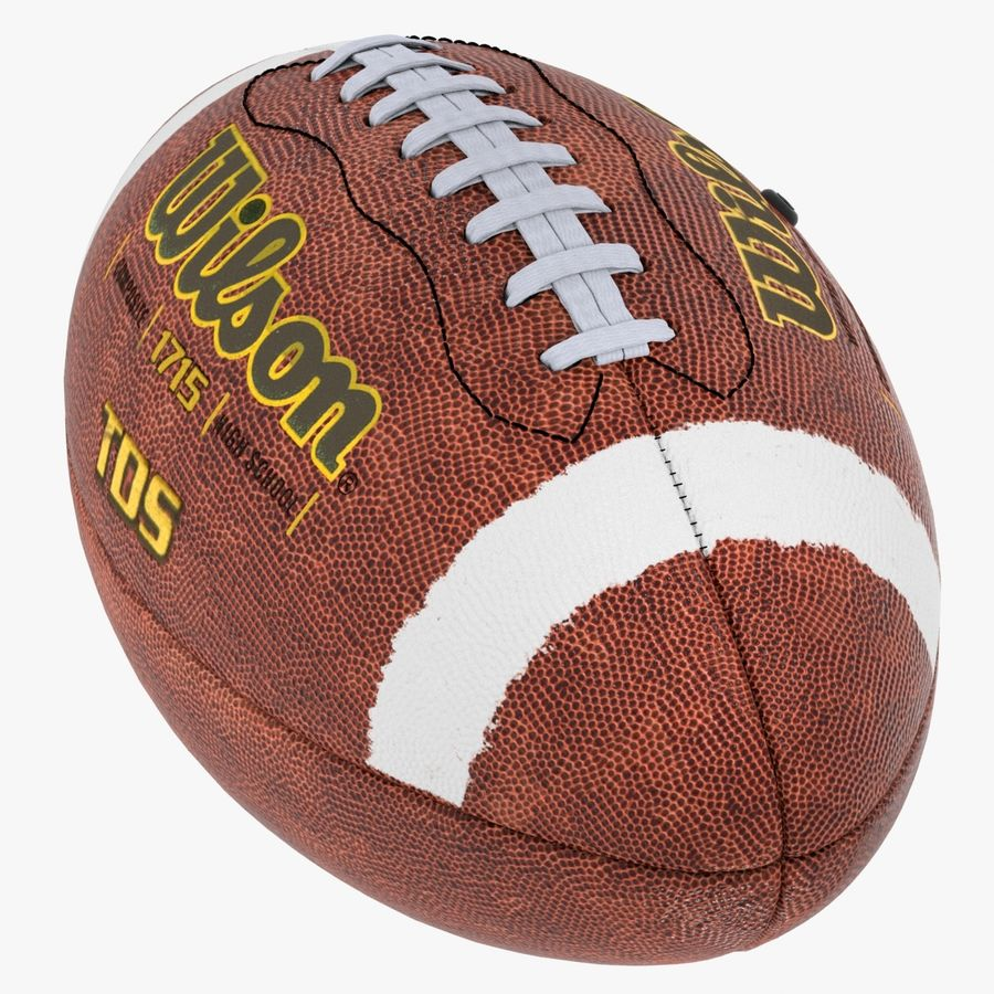 futbol amerykański royalty-free 3d model - Preview no. 10