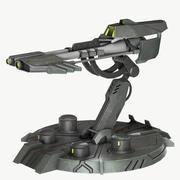Science-Fiction-Turm 3d model