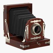 Antique Folding Camera 3d model