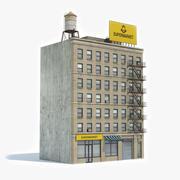 Apartment Building 34 3d model