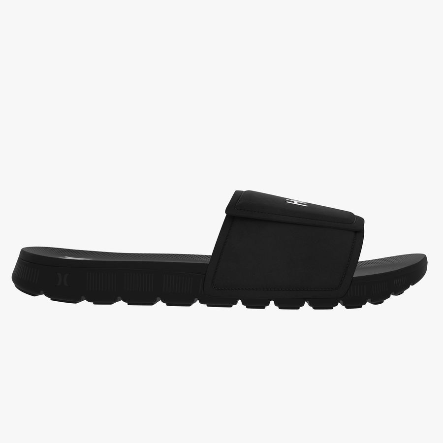 Nike Hurley Slide Flip-Flops royalty-free 3d model - Preview no. 5