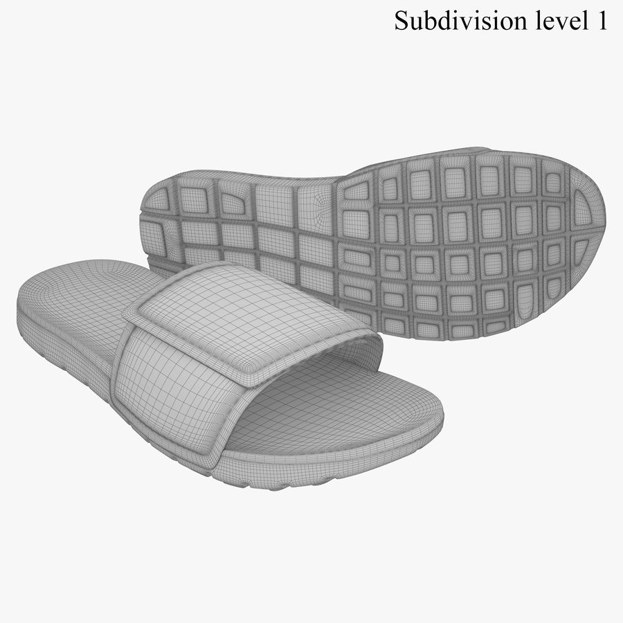 Nike Hurley Slide Flip-Flops royalty-free 3d model - Preview no. 7