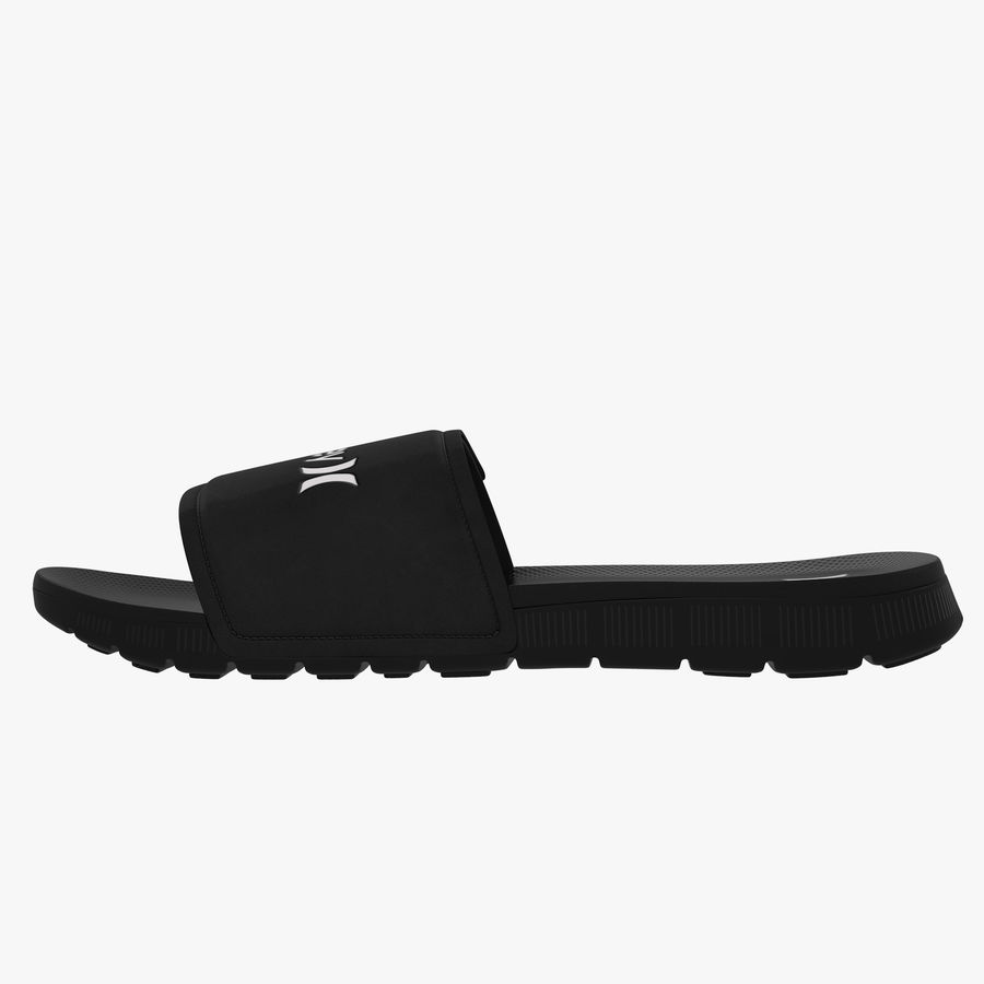 Nike Hurley Slide Flip-Flops royalty-free 3d model - Preview no. 4