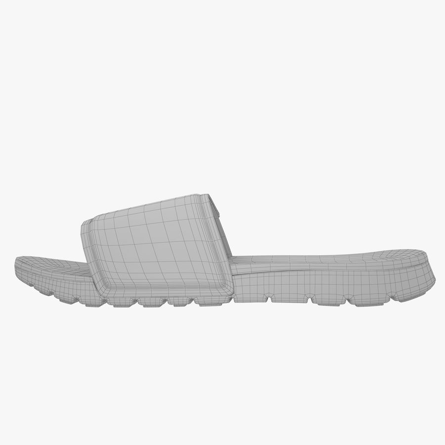 Nike Hurley Slide Flip-Flops royalty-free 3d model - Preview no. 11