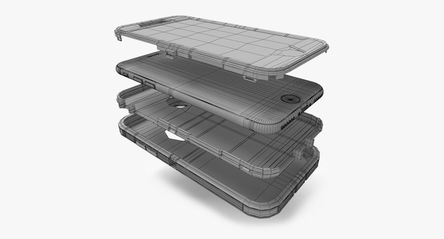Custodia per iPhone 7 royalty-free 3d model - Preview no. 7
