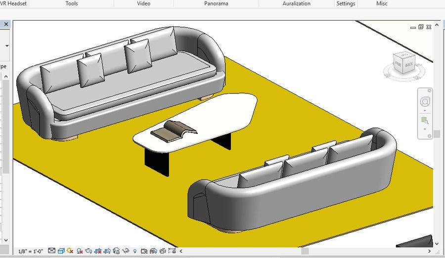Tryb 3D Furniture Revit 2018 royalty-free 3d model - Preview no. 15