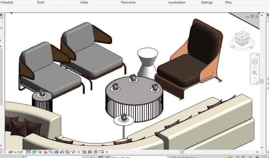 Tryb 3D Furniture Revit 2018 royalty-free 3d model - Preview no. 10