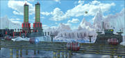 Sci-Fi Energy Towers 3d model