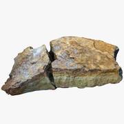 Calcaire Plat Cassé 3d model