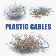 Colección colorida de cables de plástico modelo 3d