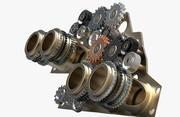Gear mechanism v 4 3d model