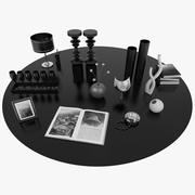 Interior Decorative Set Black 3d model