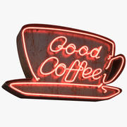 Good Coffee Neon Sign 3d model