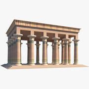 Forntida egyptisk byggnad 3d model