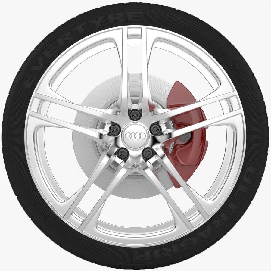 Ruota Audi R8 royalty-free 3d model - Preview no. 1