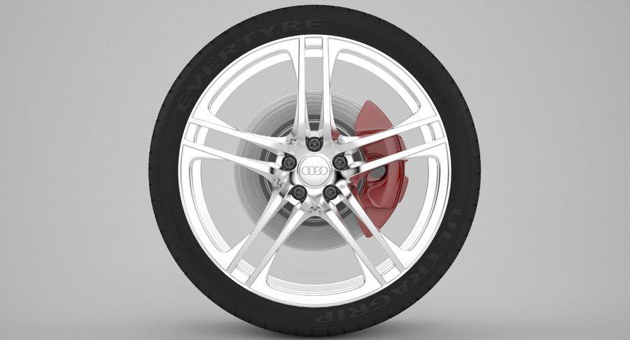 Ruota Audi R8 royalty-free 3d model - Preview no. 2