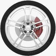 奥迪R8车轮 3d model