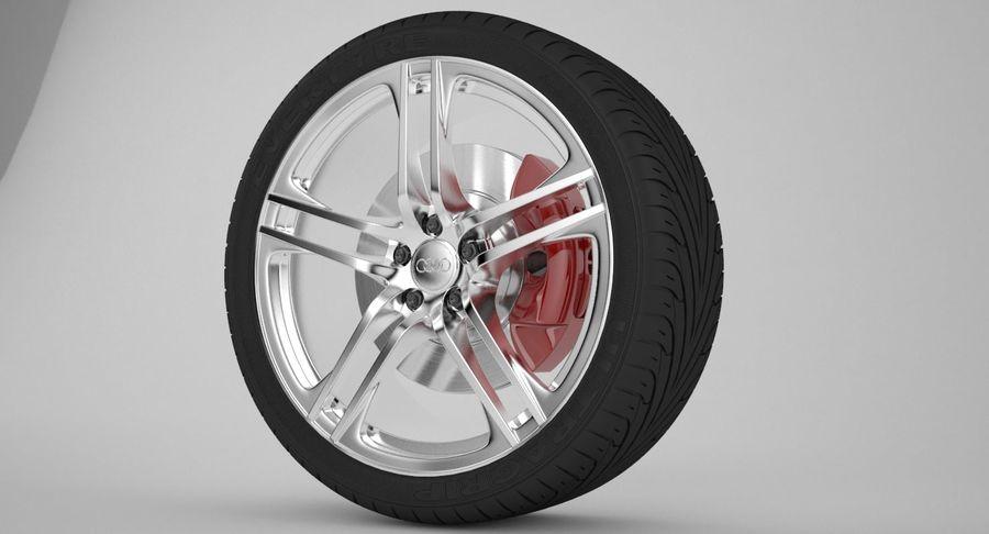 Ruota Audi R8 royalty-free 3d model - Preview no. 5