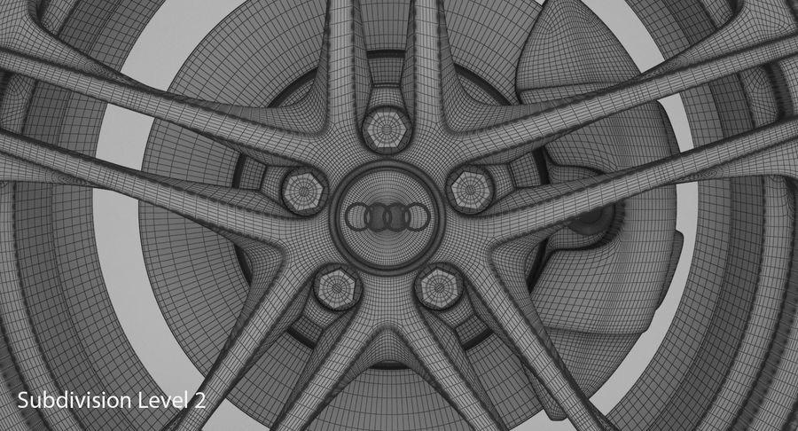 Ruota Audi R8 royalty-free 3d model - Preview no. 19