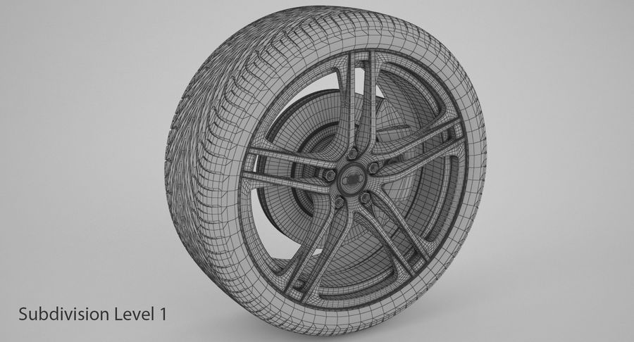 Audi R8-hjul royalty-free 3d model - Preview no. 17