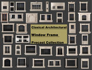 Clasical architectural window frame precast collection 3d model
