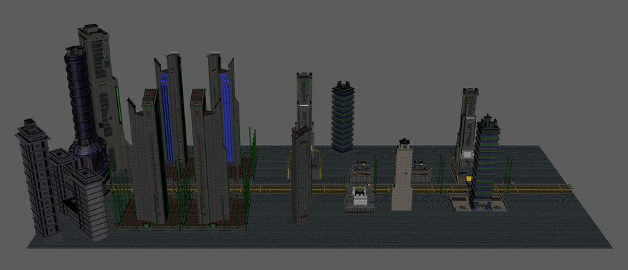 科幻城市街 royalty-free 3d model - Preview no. 14