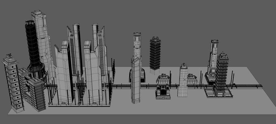 科幻城市街 royalty-free 3d model - Preview no. 15