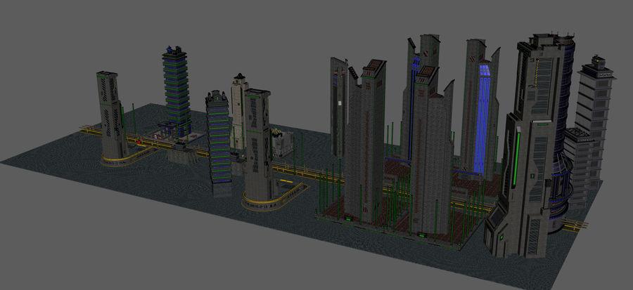 科幻城市街 royalty-free 3d model - Preview no. 12