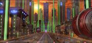 Научно-фантастическая городская улица 3d model