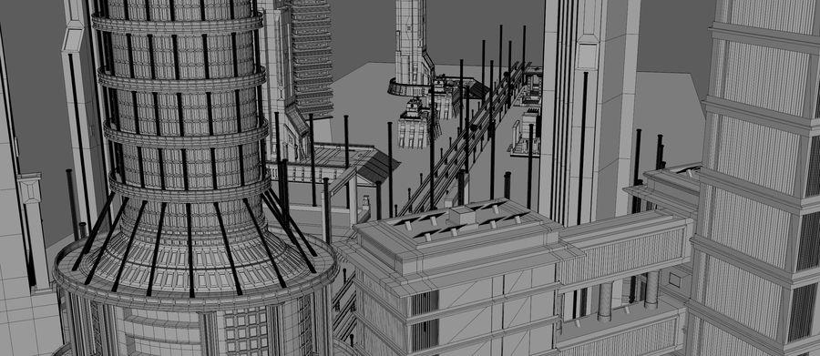 科幻城市街 royalty-free 3d model - Preview no. 21