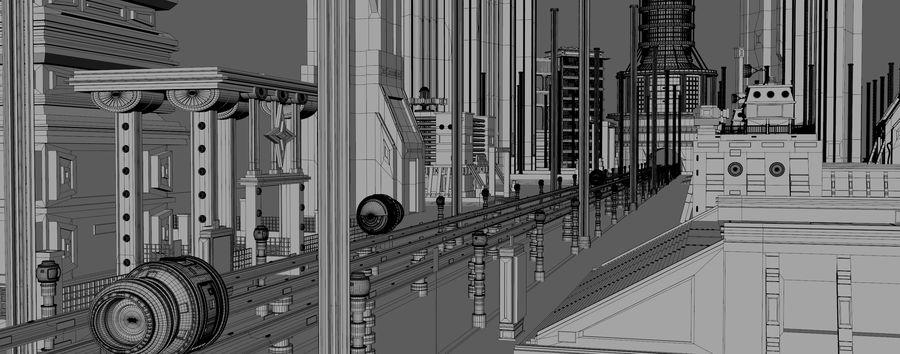 科幻城市街 royalty-free 3d model - Preview no. 11