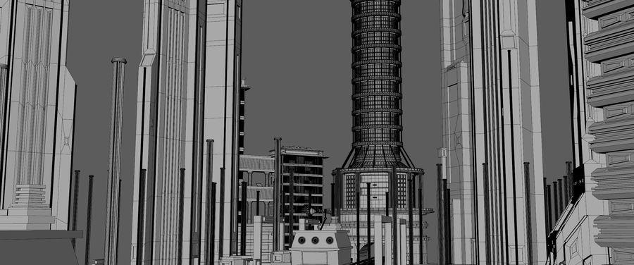 科幻城市街 royalty-free 3d model - Preview no. 17