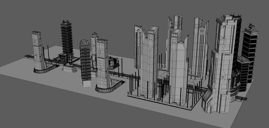 科幻城市街 royalty-free 3d model - Preview no. 13
