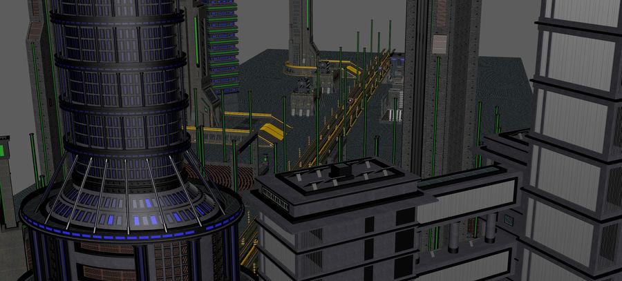 科幻城市街 royalty-free 3d model - Preview no. 20